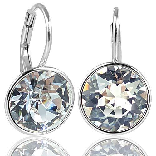 NOBEL SCHMUCK Ohrringe mit Kristallen von Swarovski® 925 Sterling Silber - schlicht modern