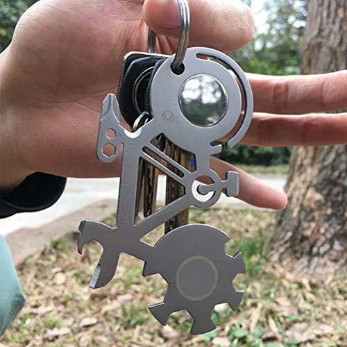 EisEyen campinggereedschap, zakformaat, zakformaat, zakgereedschap, zakmes, sleutels buiten