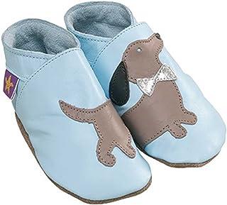 ba377be44cec0 Daxie Starchild bébé bleu chaussures en cuir souple (grand 12-18 mois EU 22