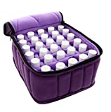 Essential Oils Storage - 30 Bottles Essential Oil Carrying Case - Essential Oils Case 5ml 10ml 15ml Essential Oil Travel Case, Purple