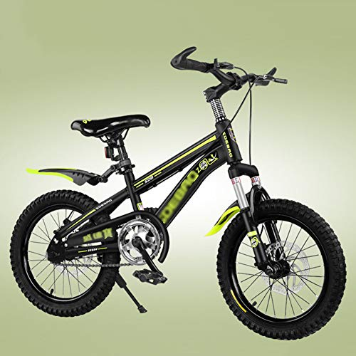 FXPCYGZ Biciclette 18 Pollici Bambini Mountain Bike Bicicletta per Adulti Maschio e Femmina Sci di Fondo Ragazzo Escursionismo Bicicletta Telaio Robusto Installazione Facile Pneumatico(Yellow)