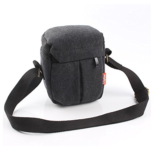 CEARI DSLR Camera Water Resistant Canvas Camera Case Bag for Nikon Coolpix L31 L32 L340 L610 L810 L830 L840 P530 Digital SLR Camera - Black