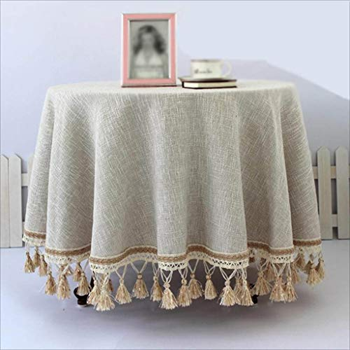 Fluweel tafelkleed, rond, van katoen, voor de winter, tafelkleed van linnen, vierkant 140 * 200cm Grijs