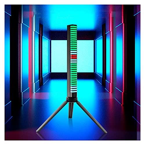 JS-YHLUSI Luces De Ritmo De Pastilla, Lámpara LED Ambiental con Control Sonido 3D 32bits, Luces Coloridas Creativas Activadas por Voz Automóvil RGB para La Recreación Vehículos Barra