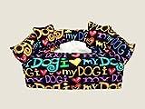 I Love My Dog Animal Designer fabric tissue box cover. Includes Tissue