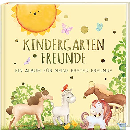 Kindergartenfreunde - PFERDE: ein Album für meine ersten Freunde (Freundebuch Kindergarten 3 Jahre) PAPERISH®