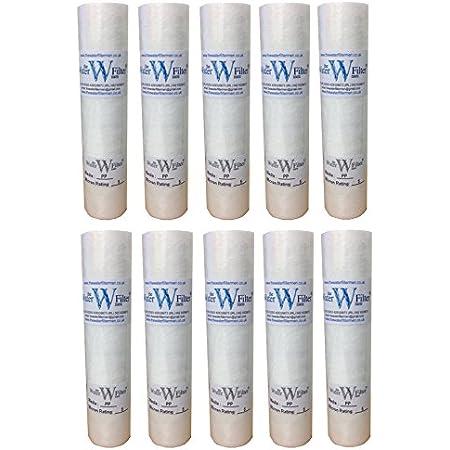"""The Water Filtre Hommes 10x10 """"PP (5Mic) Osmose inverse 10"""" PP Cartouche de filtre à eau de sédiment, 5 micron, paquet de 10"""
