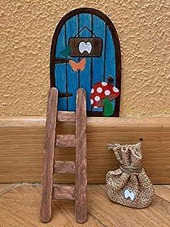 Puerta Ratoncito Pérez. Puerta mágica con bolsita para dejar el diente y recibir el regalo. Puerta Ratón Pérez