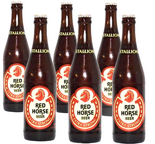6 Flaschen Red Horse Beer extra strong Bier aus den Philippinen - 330ml 8% Alc