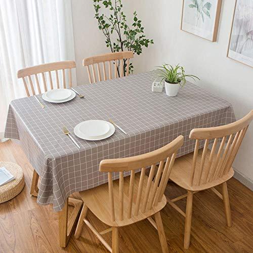 GTWOZNB fácil de Limpiar, para jardín, Habitaciones, decoración de Mesa, PVC de Color Puro a Prueba de Agua y Aceite-Caqui_El 120 * 180cm