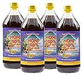 TAHITI TRADER Organic Noni 100% Island Style Juice 32 oz (4 Pack) - Noni Juice Organic Pure - Organic Noni Juice Tahiti - Juice Noni Tahiti Juice - High Potency 100% Pure Noni Juice