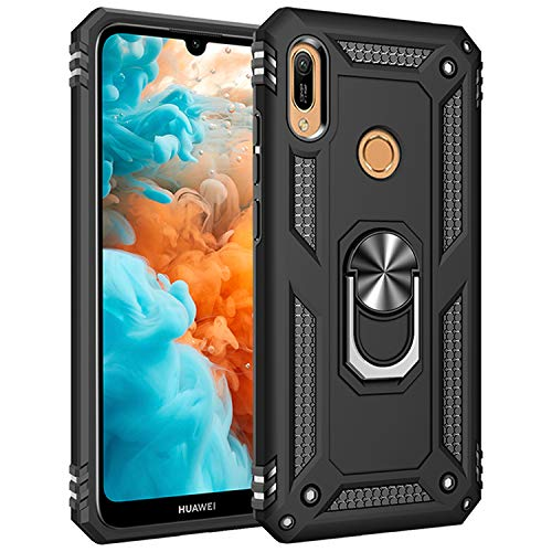 AFARER Hülle Kompatibel Mit Huawei Y6 (2019)/Huawei Y6s (2019)/Huawei Y6 Prime (2019)/Honor 8A 2020 Militärische Handyhülle Schwarz