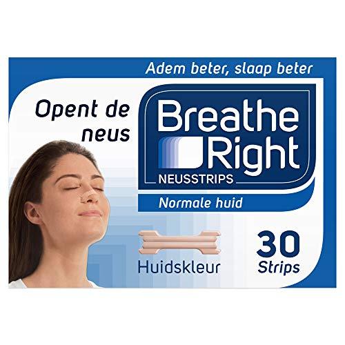 Breathe Right Neusstrips Tanned Large, 30 Stuk
