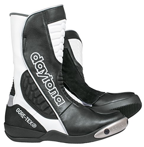 Daytona Botas impermeables para motocicleta Strive GTX Gore-Tex, talla 46, negro/blanco
