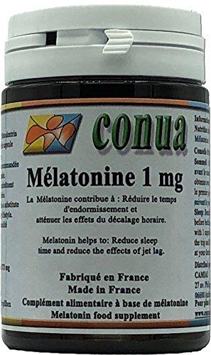 Melatonina da 1 mg riduce il tempo di sonno, allevia gli effetti del jet lag EFFETTO BENEFICO CON 1 CAPSULE VEGETALI Disturbi del sonno