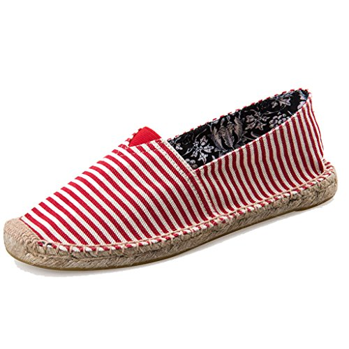 LaRosa Women's Sneaker Casual Fashion Loafer Slip-On Espadrille Flat Canvas Shoes (11 B(M) US)