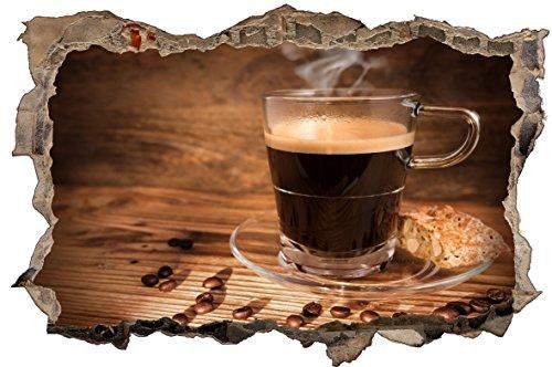 DesFoli Kaffee Coffee 3D Look Wandtattoo 70 x 115 cm Wanddurchbruch Wandbild Sticker Aufkleber D585