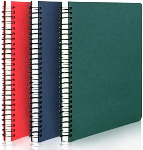 Spiral Lined Notebook EUSOAR A5 3packs 5 7x8 2 Lined Travel Writing Notebooks Journal Memo Notepad product image