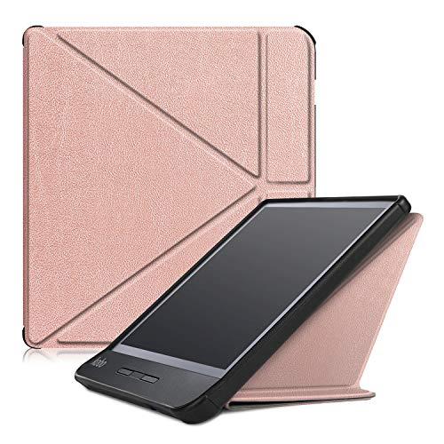 Case2go – Hoes voor de Kobo Libra H2O – Tri-Fold Book Case – Rosé Goud