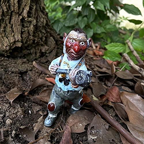 Lekgymr Jardín Gnome Estatua de resina para interior y exterior, esculturas cálidas, regalo divertido para el patio o el porche