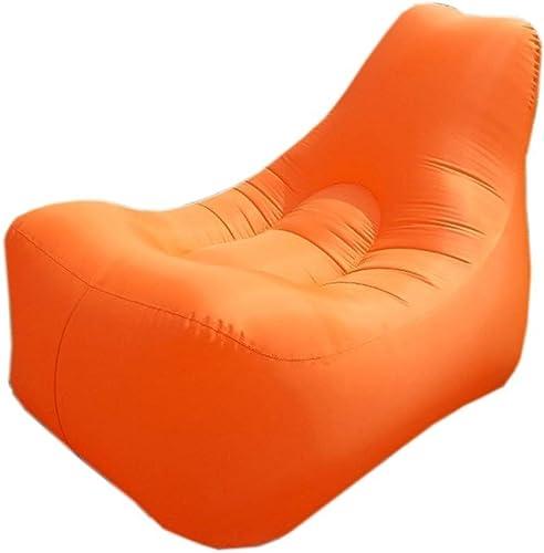 Lit Gonflable Ultra-léger De Plein Air Paresseux Canapé Individuel Gonflable Chaise Longue Résiste à L'humidité Tapis portable (Couleur   Orange)