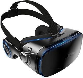 QIAOXINGXING Gafas VR, Juegos móviles 4d, Cine en 3D con Auriculares, Casco de una máquina, Gafas VR (Color : Black)
