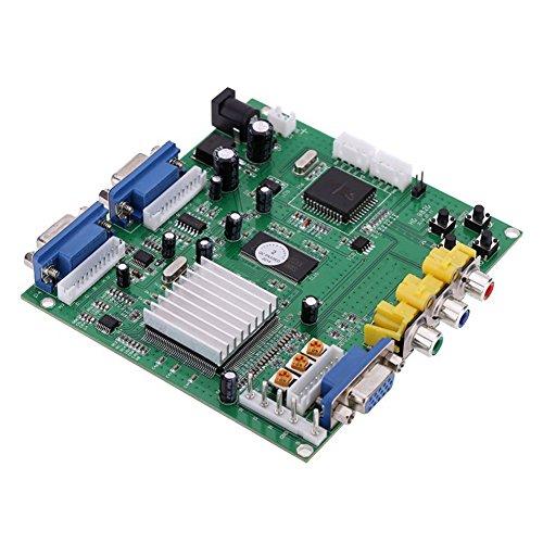 Game Video Converter Board - Gonbes Portable Genuine GBS-8220 V3.0 High Definition CGA/EGA/YUV to VGA(2 * VGA)Arcade Game Video Converter Board Two VGA Output for CRT Monitor LCD Monitor PDP Monitor