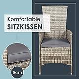 ArtLife Polyrattan Sitzgruppe Rimini Plus 9-teilig grau-meliert Gartenmöbel Set mit Tisch 8 Stühlen Kissen - 7