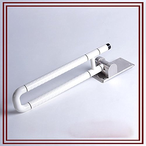 SDKKY Reposabrazos Plegable, Cuarto de baño sin barreras de Nylon barandillas de Acero Inoxidable, Hospital geriátrico asa de Seguridad