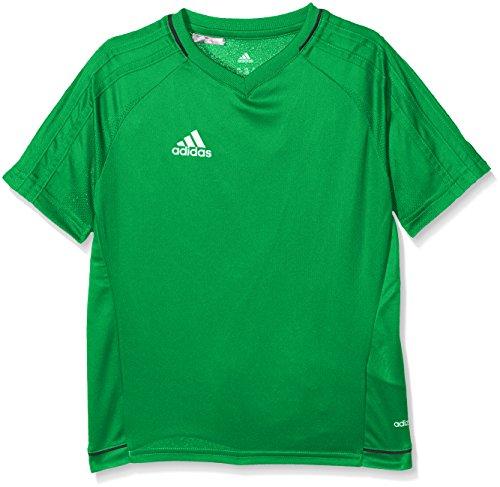 adidas Tiro 17 Training Jersey Youth Camiseta, niños, Verde (Negro/Blanco), 164