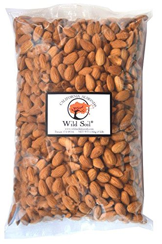 Wild Soil Almonds - Distinct and Superior to Organic, Herbicide Free, Steam Pasteurized, Probiotic, Raw 3LB Bag