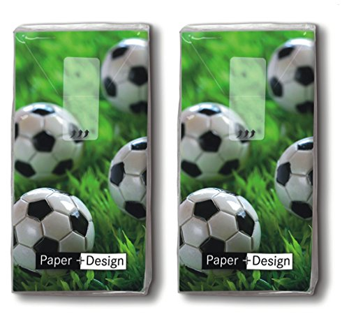 20 Taschentücher (2x 10) Go for Goal – Tore schießen / Fußball / Sport / Motivtaschentücher