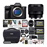 Sony Alpha a7S III Mirrorless Digital Camera with 50mm Full Frame Prime Lens Bundle (6 Items)