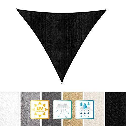 Lumaland Tenda Da Sole, Con Incluse Corde Di Nylon Per Il Montaggio, 100% HDPE Con Filtro Di Protezione UV 5X5X5M Nero
