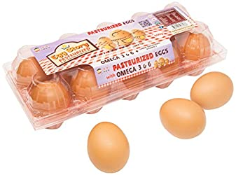 Egg Story Pasteurized Fresh Eggs with Vitamin E & Omega 3 and 6, 10 x50g- Chilled