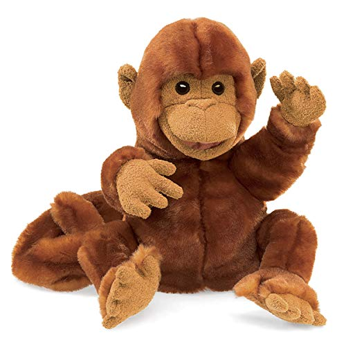 Folkmanis Classic Monkey Hand Puppet Brown, 8'
