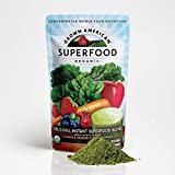 Grown American Superfood Ultra Organic Whole Fruits and Vegetables Concentrated Green Powder Antioxidants 100% Certified Organic and Vegan Non-GMO (4)