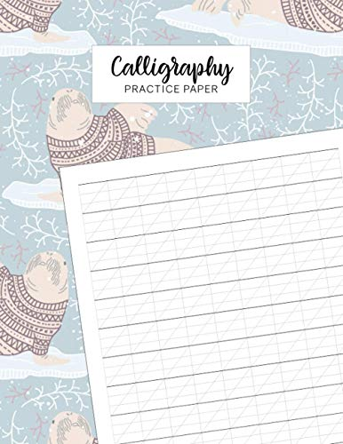 Calligraphy Practice Paper: Slanted angle lined guide pages