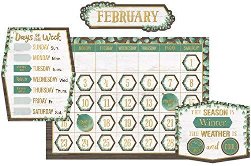 Teacher Created Resources Eucalyptus Calendar Bulletin Board, TCR8452