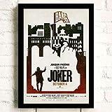 baodanla Joker Joaquin Phoenix Heath Ledger Movie s Wall Art Painting Print On Canvas Bar Room Poster Pictures Decoración para el ho50x75cm(Sin Marco)