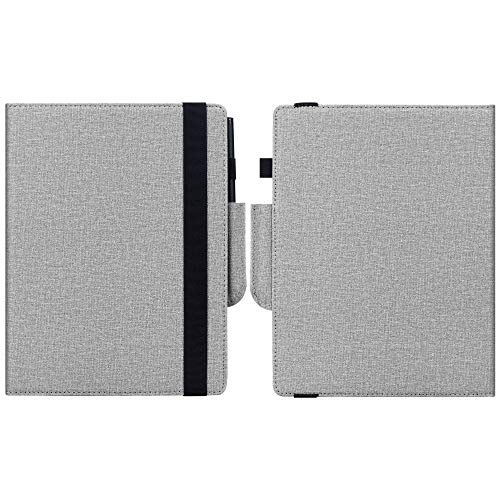 KuRoKo Book Folio Case Cover with Hand Strap and Pen Holder for Remarkable 2 10.3 Inch Digital Paper 2020 Released (Grey)