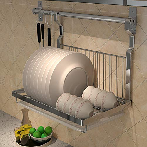 Porte-vaisselle pliable rack de drain support de cuisine en acier inoxydable plats muraux en acier inoxydable rack de rangement en inox rack