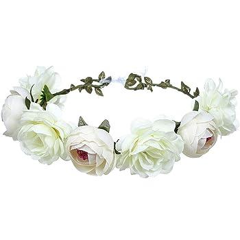 MagiDeal Boho Mädchen Blumen Crown Girlande Blume Stirnband Haar Hochzeit
