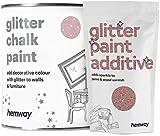 Hemway Candy Floss - Pintura de tiza (con purpurina) de brillo mate, acabado para pared y muebles (1 L, Shabby Chic Vintage, pintura de cristal, disponible en 25 colores con purpurina), rosa