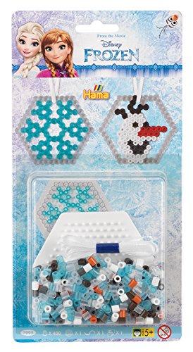 Hama 7995 - Sortiment Frozen, ca. 400 Bügelperlen und kleine sechseckige Stiftplatte
