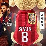 UD-strap NBA Jersey Camiseta De Perro De La Copa Mundial De Perro Ropa para Perros Pequeños Verano Chihuahua Tshirt Cachorro Chaleco Mascota Ropa L Un