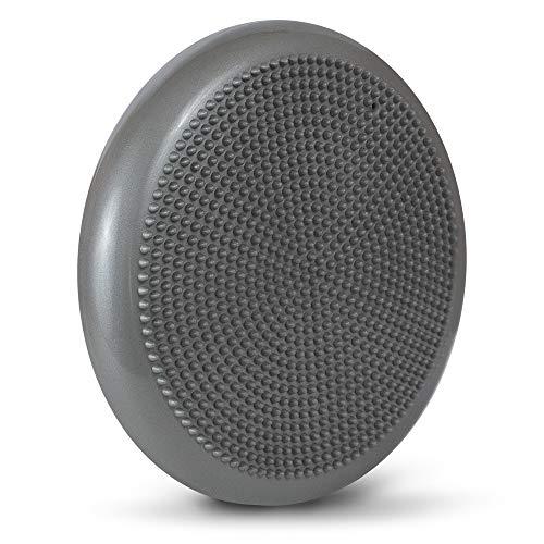 LOMOS ergonomisches Balance-Sitzkissen inklusive Luftpumpe in Silber-grau, Ø 33 cm
