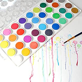 Watercolor Artist set, 36 Colors, Includes a Variety of 12 Quality Brushes, Everything You Need to Get Started! Brushes Works Great For Watercolor and Acrylic (Watercolor Pan) للبيع