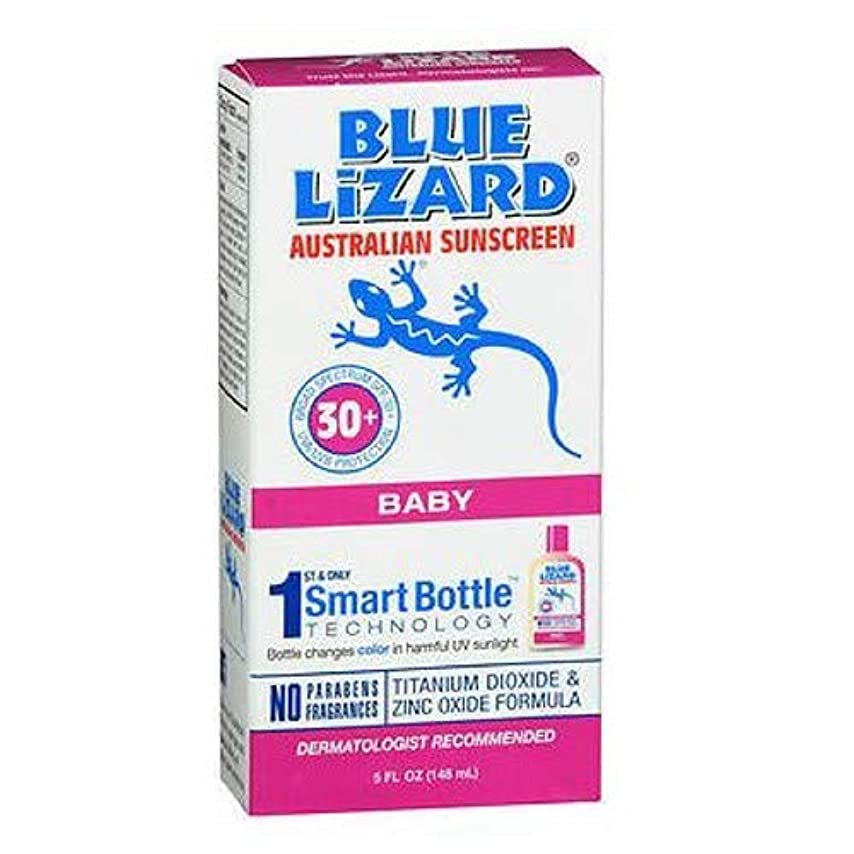 誘う突進滑るBlue Lizard Australian Sunscreen ブルーリザードオーストラリアのサンスクリーン敏感SPF#30 + 5オンス(145Ml)(2パック)