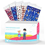 Kids 3 Ply Disposable Face Masks, Hyegiir 50 Assorted Wacky Balls Breathable Individually Wrapped Non-woven Face Masks For Boys and Girls(Red)